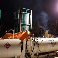 Tanks and Heater pipeline Hydro Testing water transfer