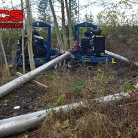 Remote Sewer Bypass work