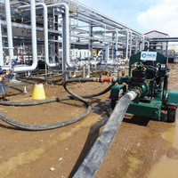 Pump system for filling process pipe on modular cons