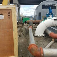 NCS Fluid Handling Systems Water fill for Process pipe test on site