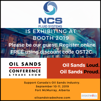 NCS Fluid Handling Systems at Fort McMurray Oil Sands Conference