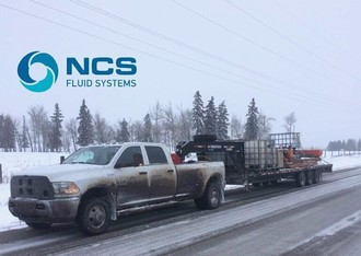 Loaded and heading home after pipeline hydro test